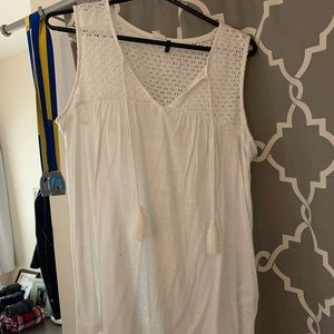 White tank top from Anthropologie